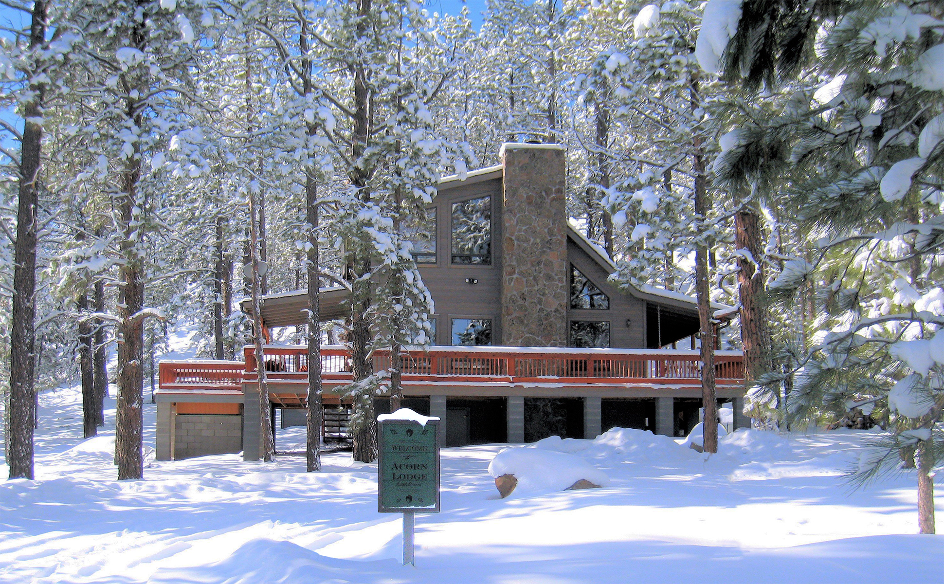 Acorn Lodge AZ in the snow (image)